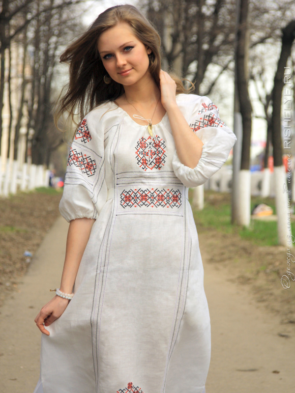 Платье Русский Стиль Фото
