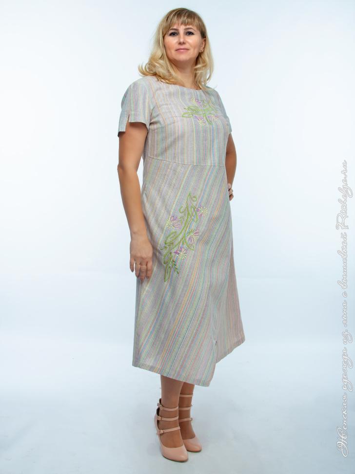 Купить Платье Лен В Интернет Магазине Недорого